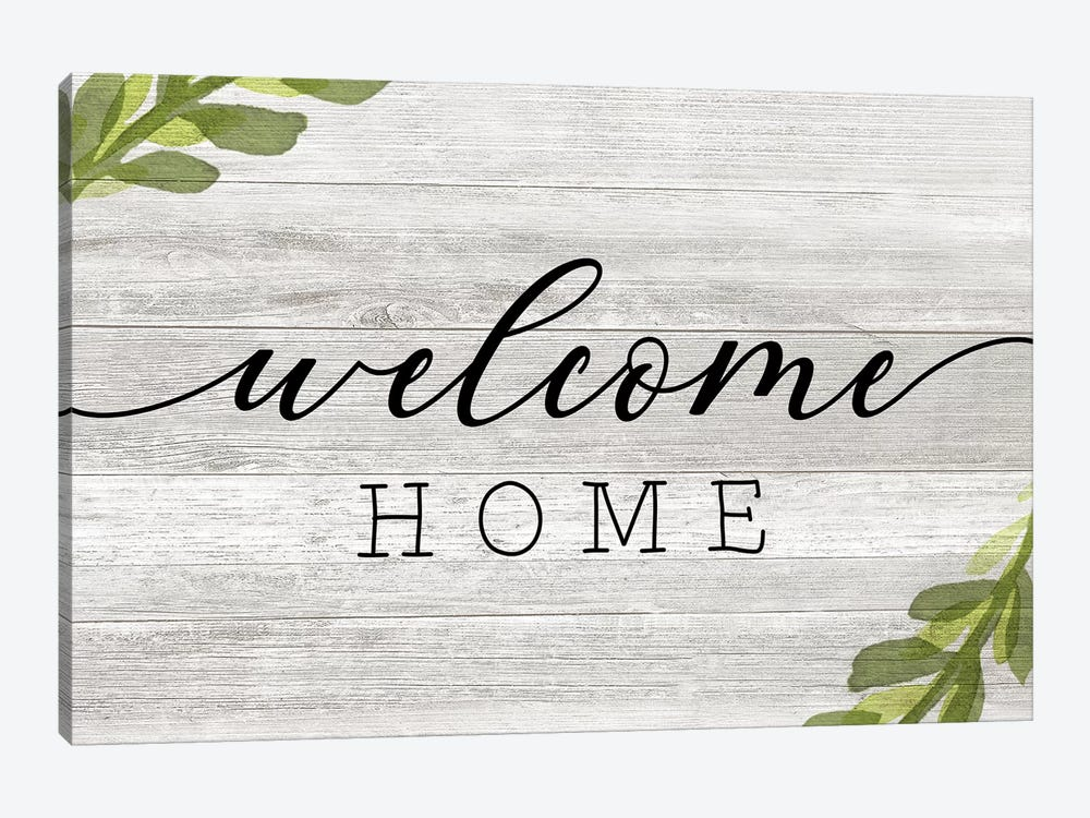 Welcome Home by Natalie Carpentieri 1-piece Canvas Wall Art