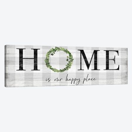Hoe is our Happy Place Canvas Print #CRP126} by Natalie Carpentieri Canvas Art