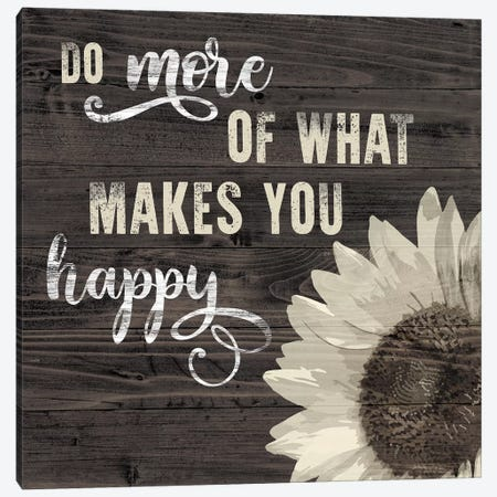 What Makes You Happy Canvas Print #CRP12} by Natalie Carpentieri Canvas Wall Art