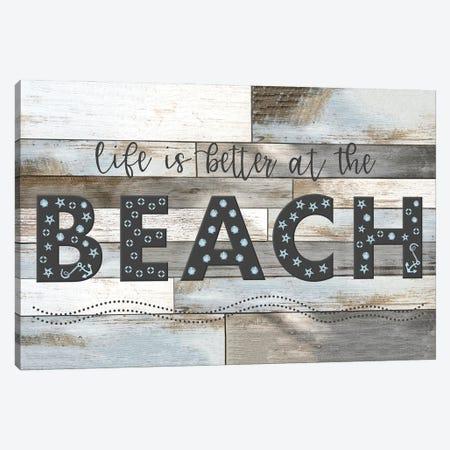 Better at the Beach Canvas Print #CRP132} by Natalie Carpentieri Canvas Artwork