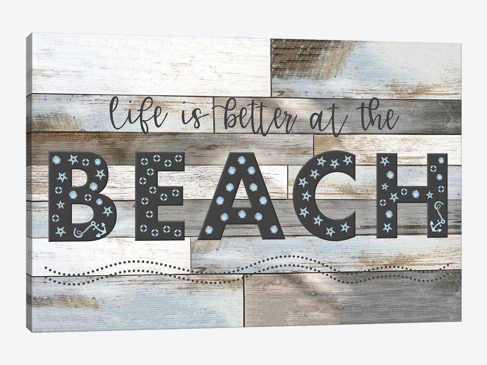 Better at the Beach by Natalie Carpentieri 1-piece Canvas Art