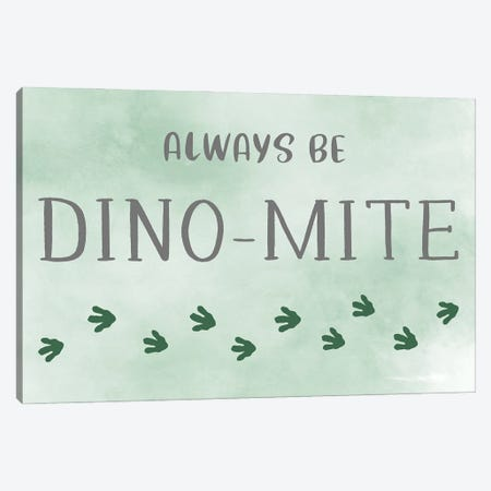 Dino-mite Canvas Print #CRP133} by Natalie Carpentieri Canvas Wall Art
