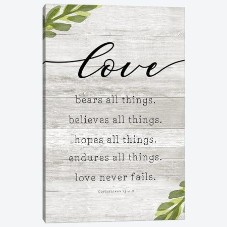 Love Never Fails Canvas Print #CRP138} by Natalie Carpentieri Canvas Art