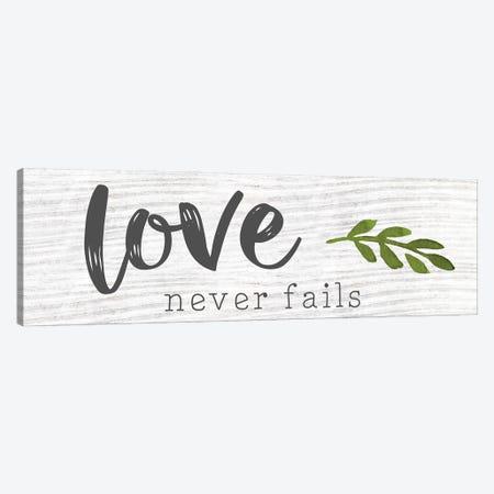 Love Never Fails Canvas Print #CRP139} by Natalie Carpentieri Canvas Artwork