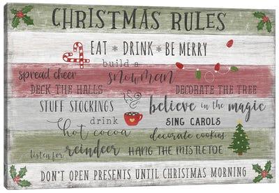 Christmas Rules Canvas Art Print