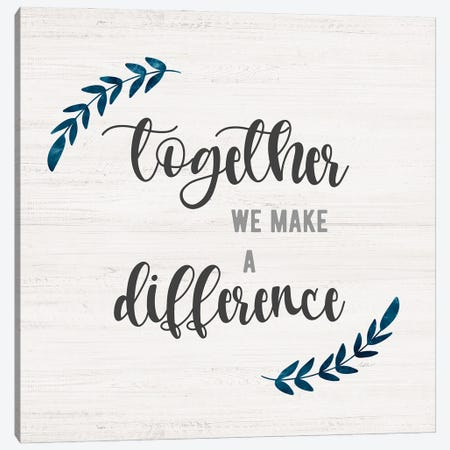Difference Together Canvas Print #CRP156} by Natalie Carpentieri Canvas Print