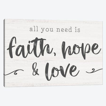 Faith, Hope, Love Canvas Print #CRP157} by Natalie Carpentieri Art Print