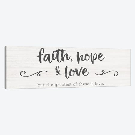 Greatest is Love Canvas Print #CRP164} by Natalie Carpentieri Canvas Wall Art