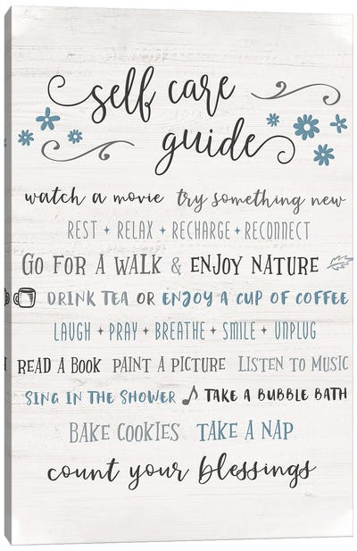 Guide to Self Care Canvas Art Print