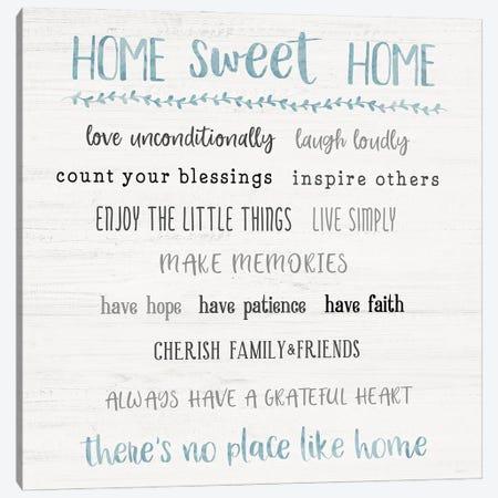 Home Sweet Home Rules Canvas Print #CRP168} by Natalie Carpentieri Canvas Art Print