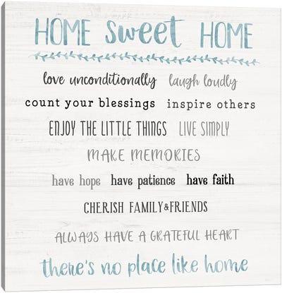 Home Sweet Home Rules Canvas Art Print