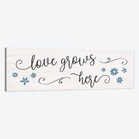 Love Grows Here Canvas Print #CRP179} by Natalie Carpentieri Canvas Artwork