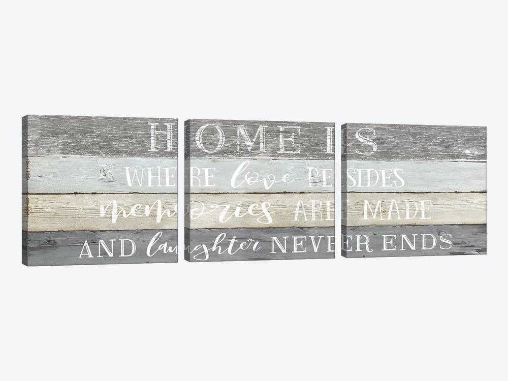 Home is Where by Natalie Carpentieri 3-piece Art Print