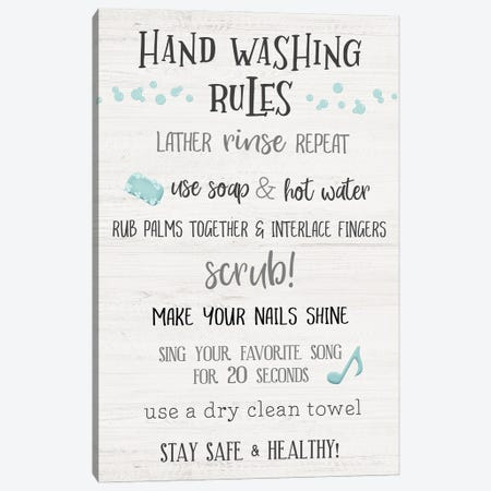 Stay Safe Rules Canvas Print #CRP190} by Natalie Carpentieri Canvas Wall Art
