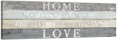 Home Love Canvas Art Print