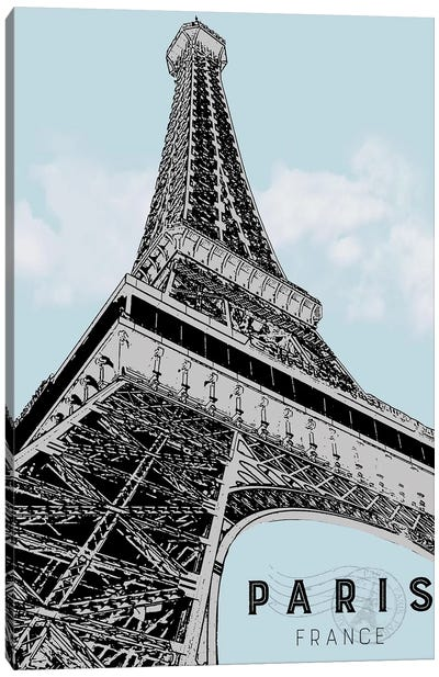 Mid Modern Paris Canvas Art Print