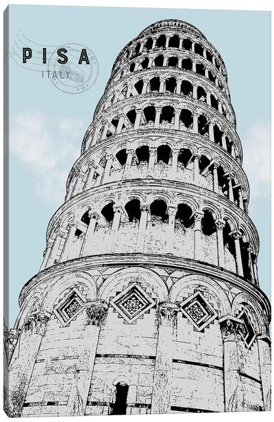 Mid Modern Pisa Canvas Art Print