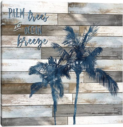 Palm Trees and Ocean Breeze Canvas Art Print