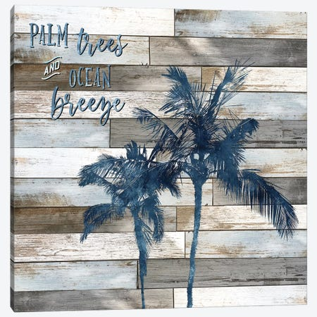 Palm Trees and Ocean Breeze Canvas Print #CRP24} by Natalie Carpentieri Canvas Art