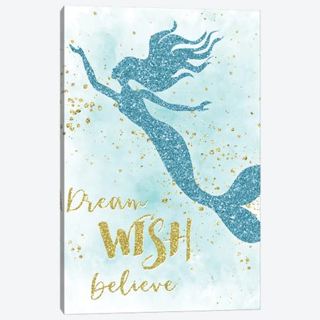 Dream Wish Believe Canvas Print #CRP40} by Natalie Carpentieri Canvas Print