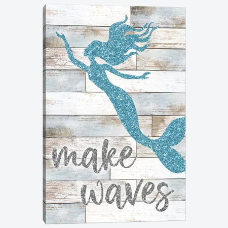 Make Waves Canvas Print #CRP44} by Natalie Carpentieri Canvas Artwork