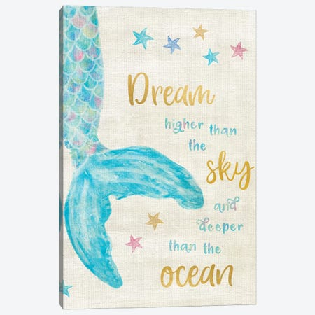 Mermaid Dream Canvas Print #CRP45} by Natalie Carpentieri Canvas Artwork