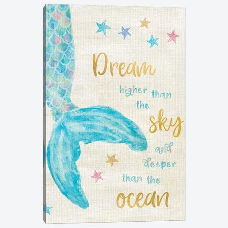 Mermaid Dream Canvas Print #CRP45} by Natalie Carpentieri Canvas Artwork