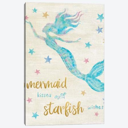 Mermaid Kisses Canvas Print #CRP46} by Natalie Carpentieri Canvas Artwork