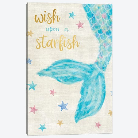 Mermaid Wish Canvas Print #CRP47} by Natalie Carpentieri Canvas Art