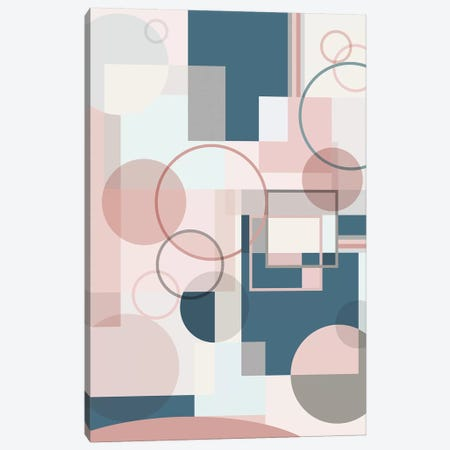 Modern Geo  Canvas Print #CRP58} by Natalie Carpentieri Canvas Art