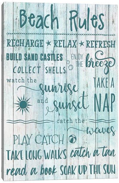 Beach Rules Canvas Art Print