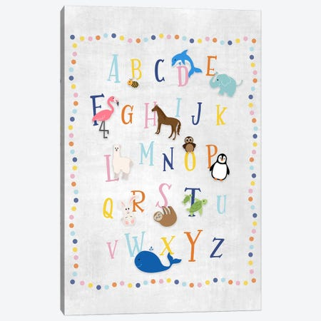 Animal Alphabet Canvas Print #CRP74} by Natalie Carpentieri Canvas Print