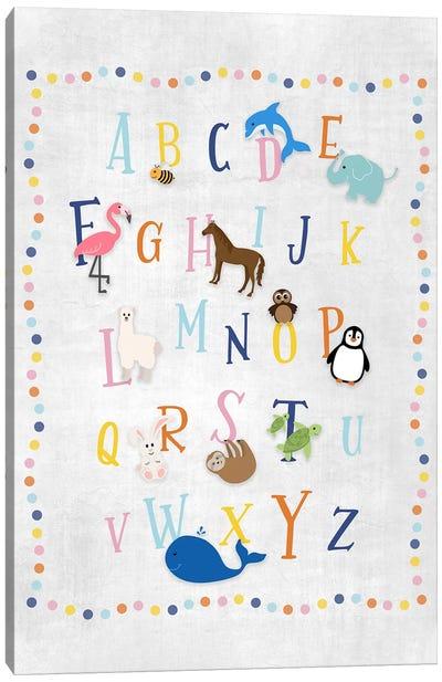 Animal Alphabet Canvas Art Print