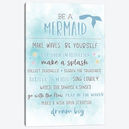 Be A Mermaid Canvas Print #CRP77} by Natalie Carpentieri Canvas Print