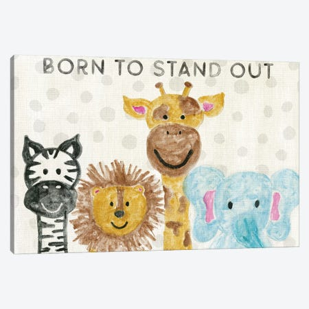 Born To Stand Out Canvas Print #CRP78} by Natalie Carpentieri Canvas Wall Art