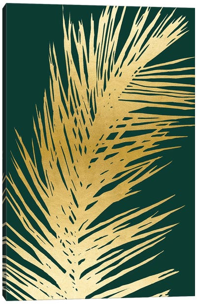 Emerald Palm II Canvas Art Print