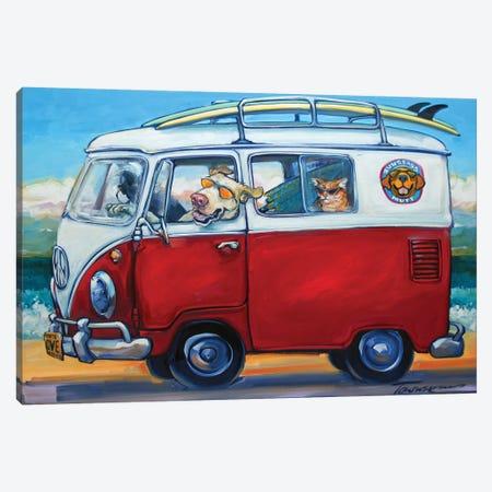 Sunglass Mutt Canvas Print #CRT12} by CR Townsend Canvas Wall Art