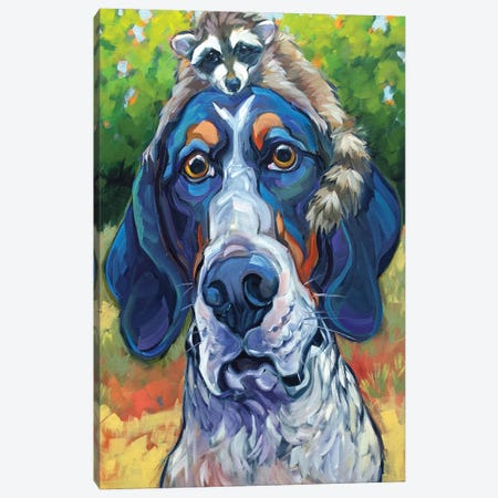 Coonhound Canvas Print #CRT19} by CR Townsend Canvas Artwork