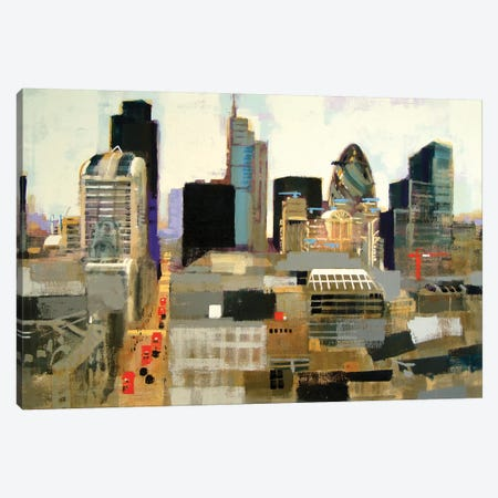 City Of London Canvas Print #CRU10} by Colin Ruffell Canvas Art Print