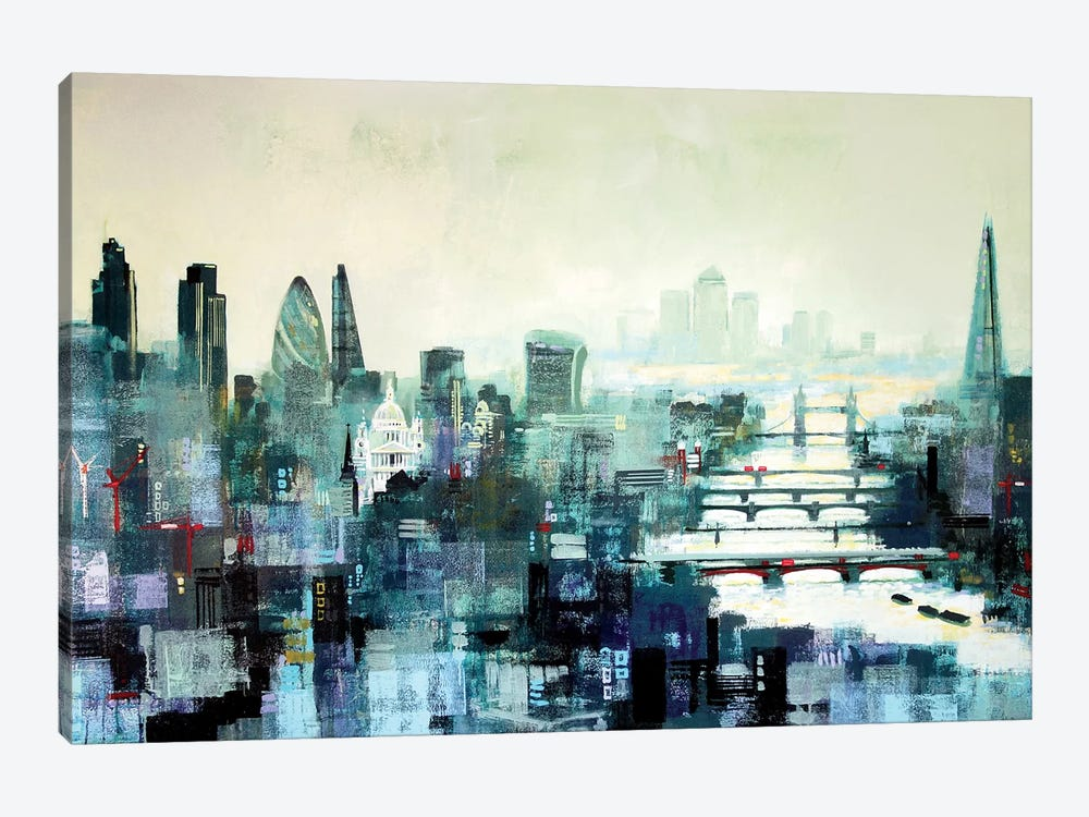 City Titans by Colin Ruffell 1-piece Canvas Wall Art