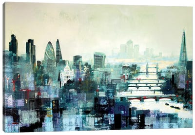 City Titans Canvas Art Print