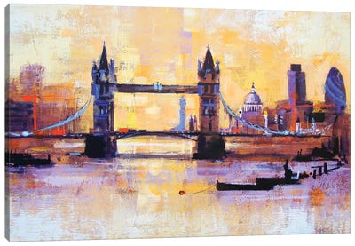 Colours Of London Canvas Art Print