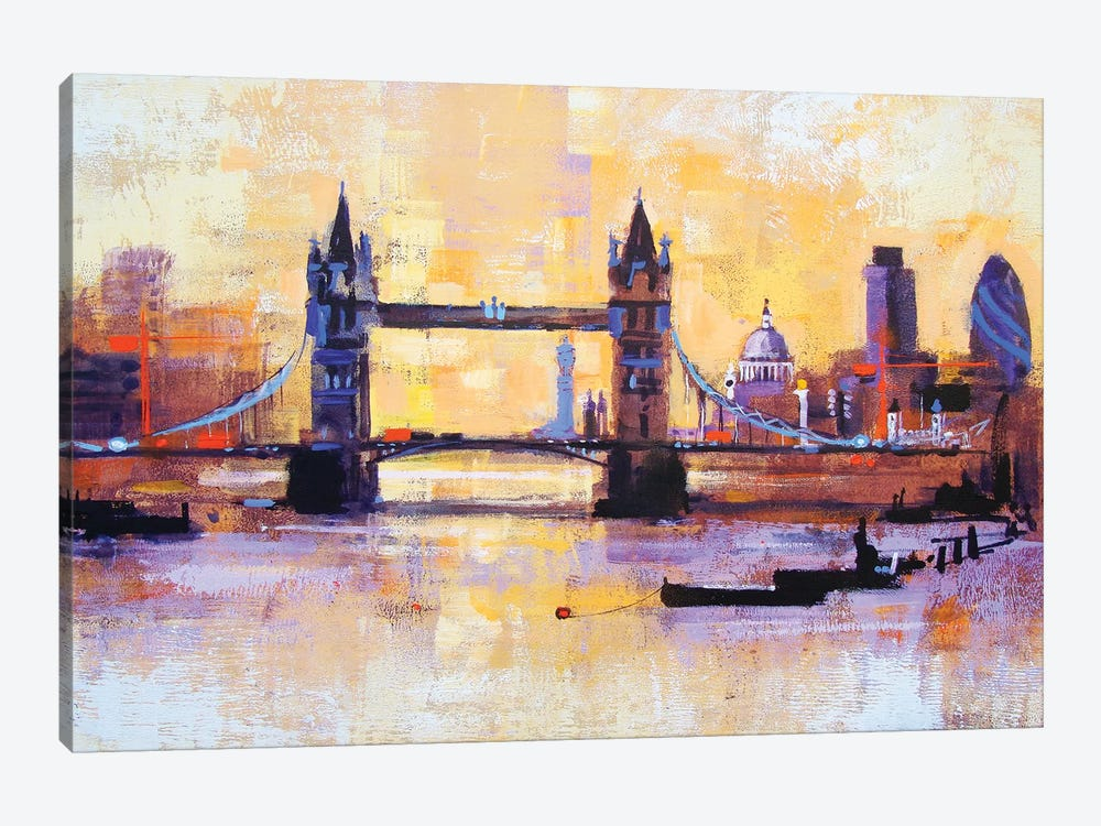 Colours Of London 1-piece Canvas Wall Art