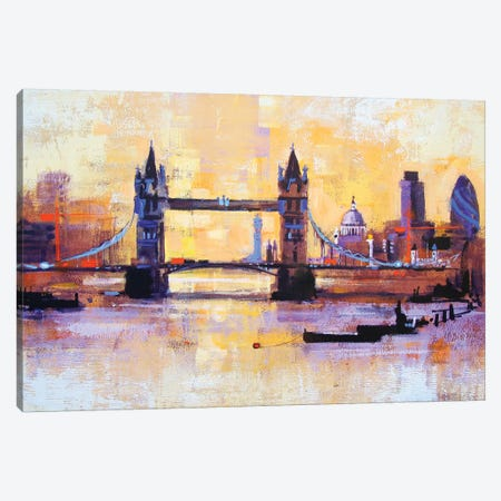 Colours Of London Canvas Print #CRU13} by Colin Ruffell Canvas Art Print