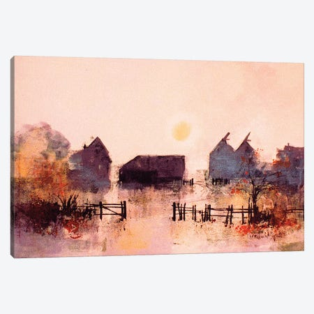 Early Morning Farm Canvas Print #CRU19} by Colin Ruffell Canvas Print
