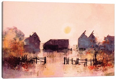 Early Morning Farm Canvas Art Print