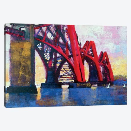 Edinburgh Forth Bridge Canvas Print #CRU22} by Colin Ruffell Canvas Artwork