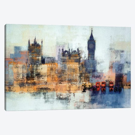 Houses Of Parliament Canvas Print #CRU33} by Colin Ruffell Art Print