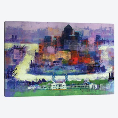 Isle Of Dogs Canvas Print #CRU34} by Colin Ruffell Canvas Artwork