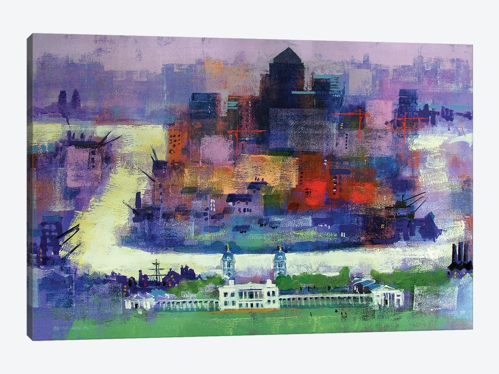 Isle Of Dogs by Colin Ruffell 1-piece Canvas Art Print